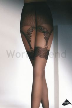 Adrian Charlotte 20 Denier Sexy Suspender patterned Tights