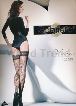 Gabriella Vera 20 Denier Floralpatterned Lace Hold Ups