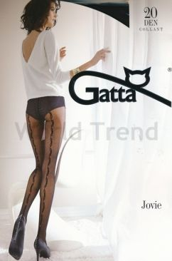 Gatta Jovie 03 20 Denier Stripe at the back Tights