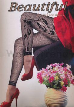 2c79a8c96f Mintás Leggings - vastag leggings, fekete leggings, virág mintás ...