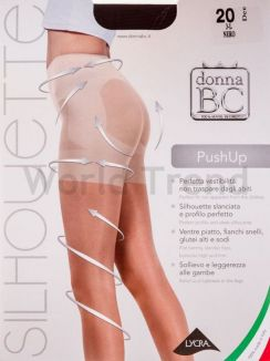 B.C. Push up 20 20/150 Denier Shaping Support Plus size Tights