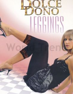 Dolce Dono 50 Denier Leggings with Lace finish
